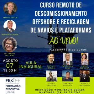 Read more about the article Curso de Reciclagem de Navios e Plataformas terá o Presidente do Cluster Tecnológico Naval do RJ como palestrante