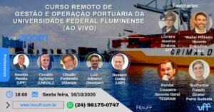 Universidade Federal Fluminense oferece Curso Remoto de Gestão e Operação Portuária