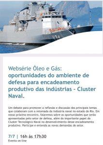 Websérie Óleo e Gás FIRJAN: Oportunidades do ambiente de defesa para o encadeamento produtivo
