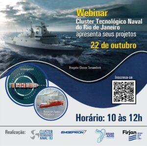Webinar: Cluster Tecnológico Naval do Rio de Janeiro apresenta seus projetos