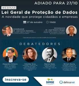 Webinar: Lei Geral de Proteção de Dados – A novidade que protege cidadãos e empresas