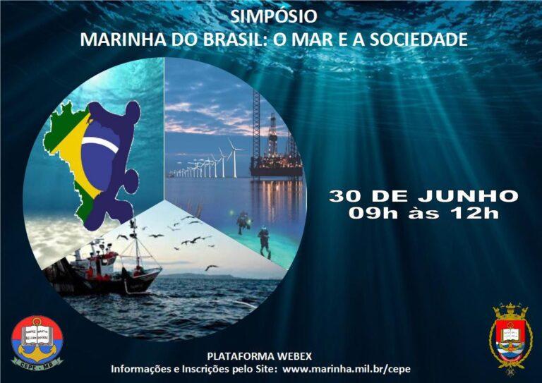 "Webinar ""Marinha do Brasil: o Mar e a Sociedade""."